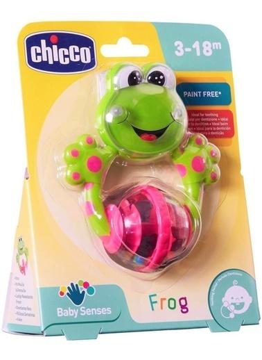 Chicco Diş Kaşıyıcı Çıngırak Komik Kurbağa-71697 Renkli